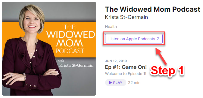 Announcing The Widowed Mom Podcast! – Coaching with Krista